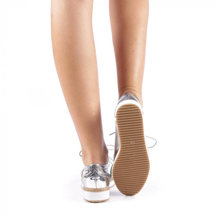 Pantofi dama Yvona argintii 2