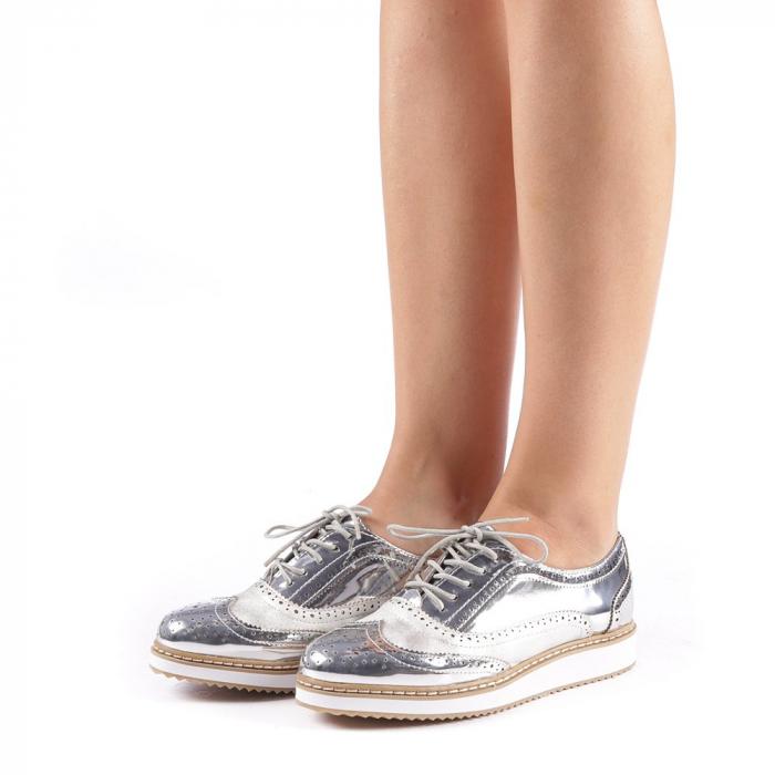 Pantofi dama Yvona argintii 1