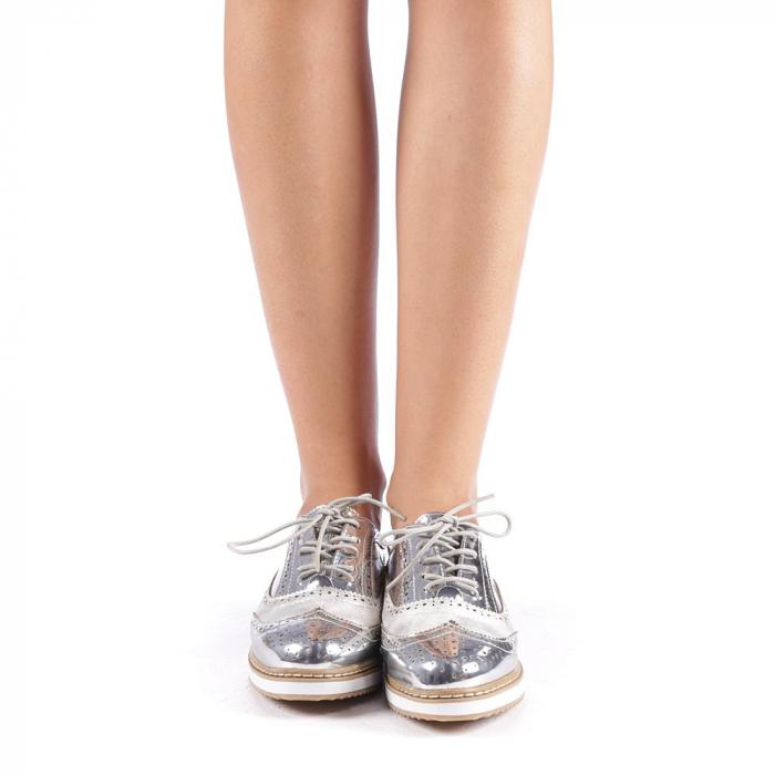Pantofi dama Yvona argintii 3