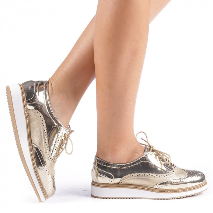 Pantofi dama Yvona aurii 0