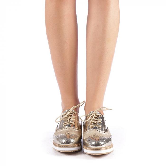 Pantofi dama Yvona aurii 3