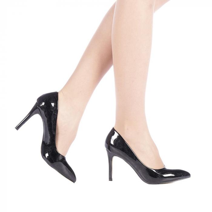 Pantofi dama Zaza negri 0
