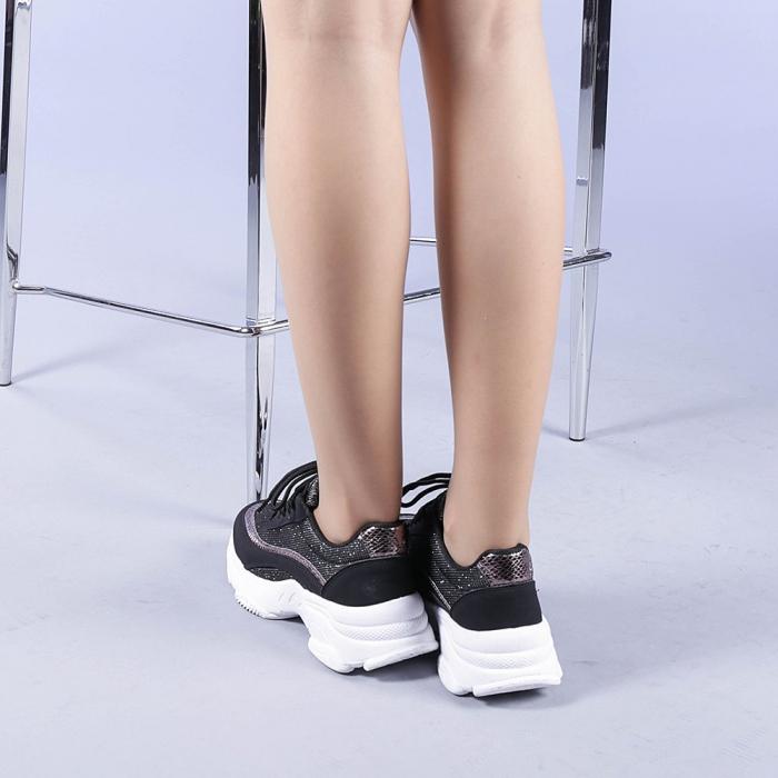 Pantofi sport dama Alima negri 3