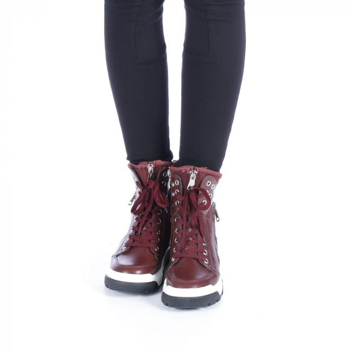 Pantofi sport dama Amanda grena 4