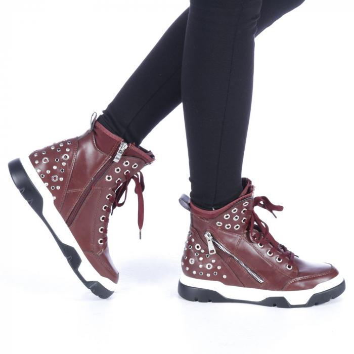 Pantofi sport dama Amanda grena 0