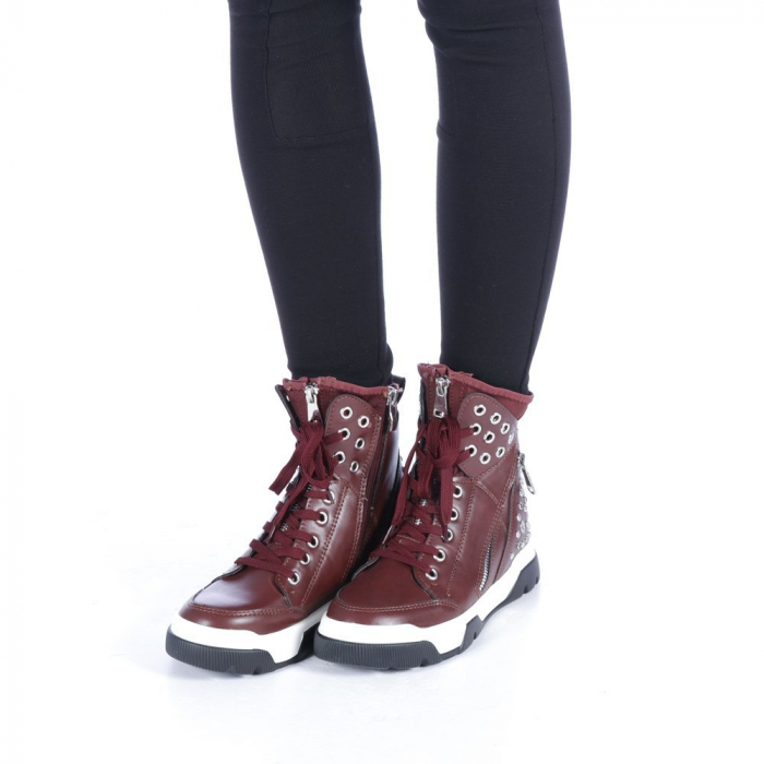 Pantofi sport dama Amanda grena 2