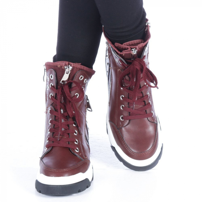 Pantofi sport dama Amanda grena 1