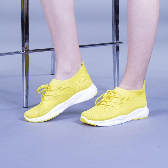 Pantofi sport dama Anamarie galbeni 2