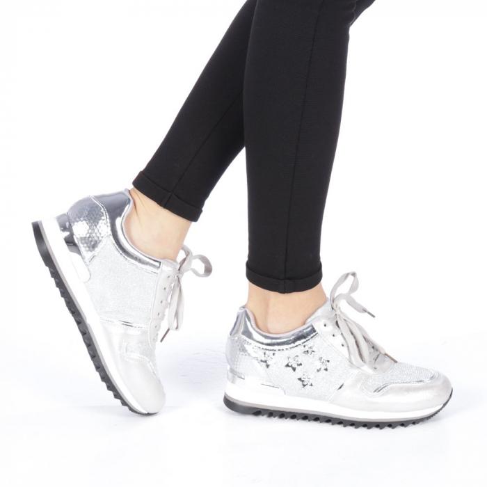 Pantofi sport dama Andree argintii 0