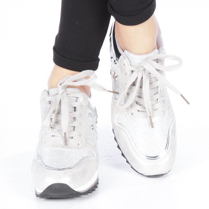 Pantofi sport dama Andree argintii 1