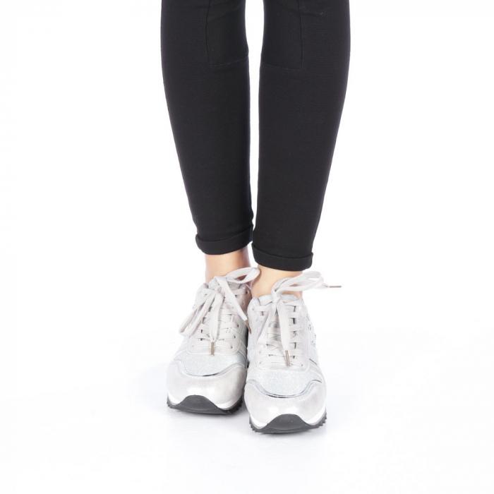 Pantofi sport dama Andree argintii 4