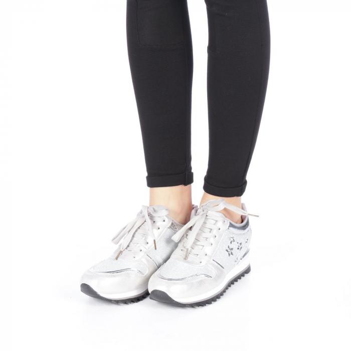 Pantofi sport dama Andree argintii 2
