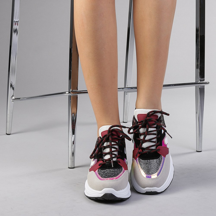 Pantofi sport dama Angela rosii 1