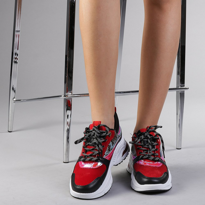 Pantofi sport dama Antonela rosii 1