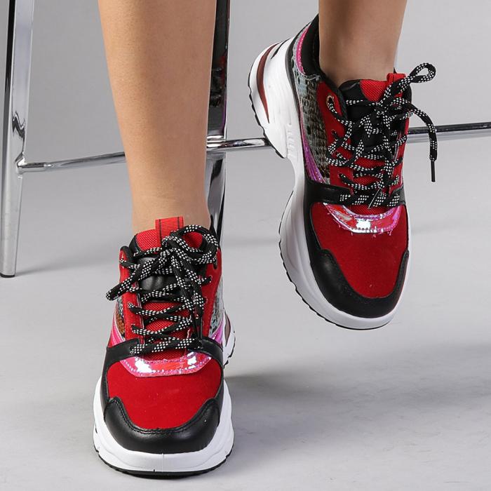 Pantofi sport dama Antonela rosii 0
