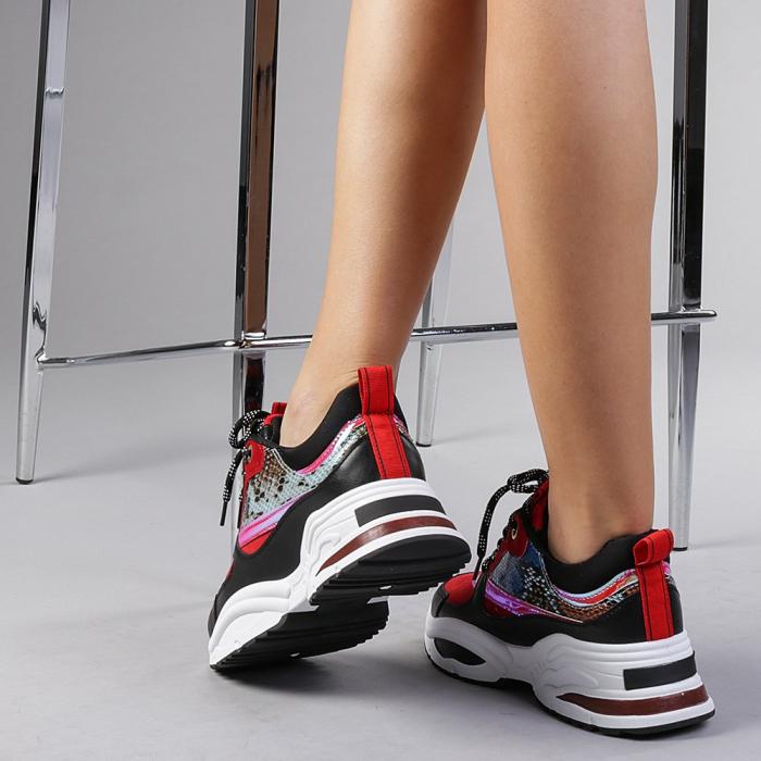 Pantofi sport dama Antonela rosii 3