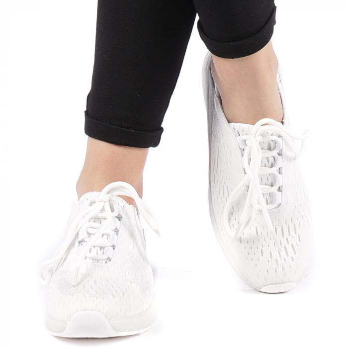 Pantofi sport dama Antonia albi 1