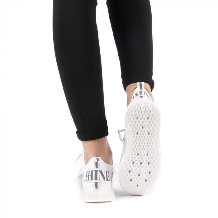 Pantofi sport dama Antonia albi 3