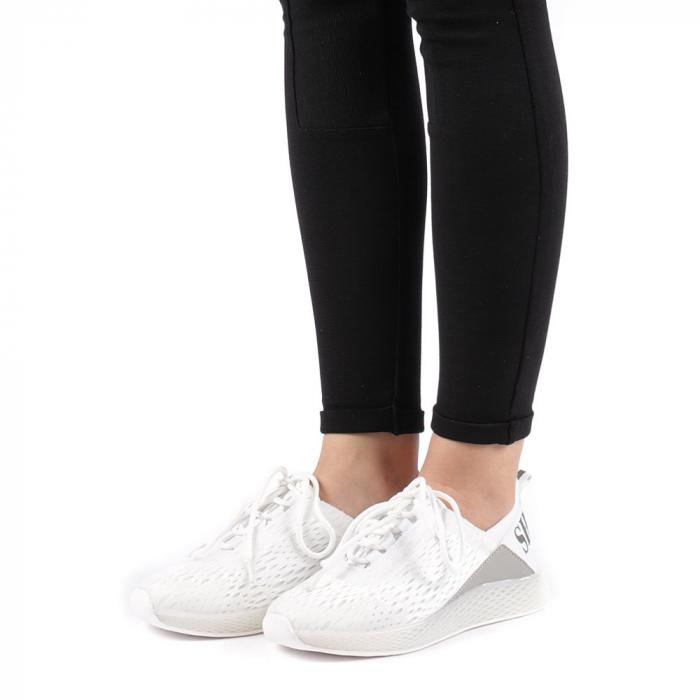 Pantofi sport dama Antonia albi 2