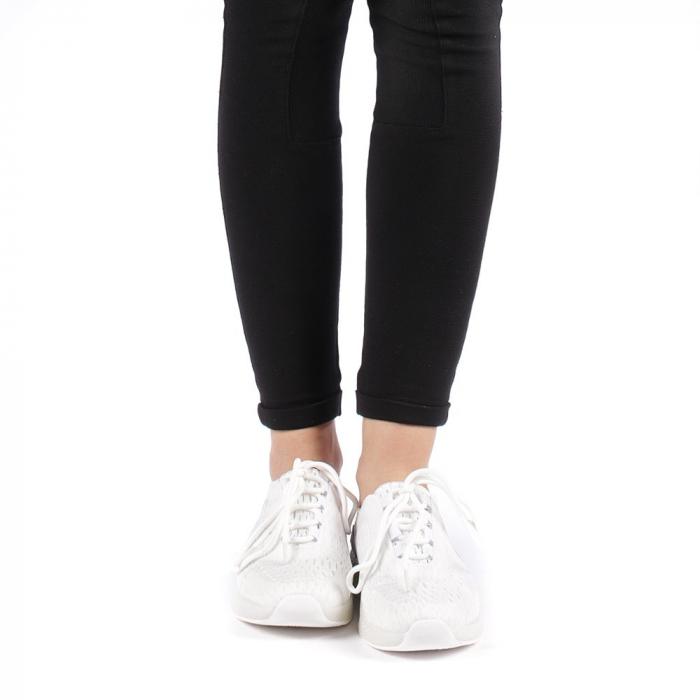 Pantofi sport dama Antonia albi 4