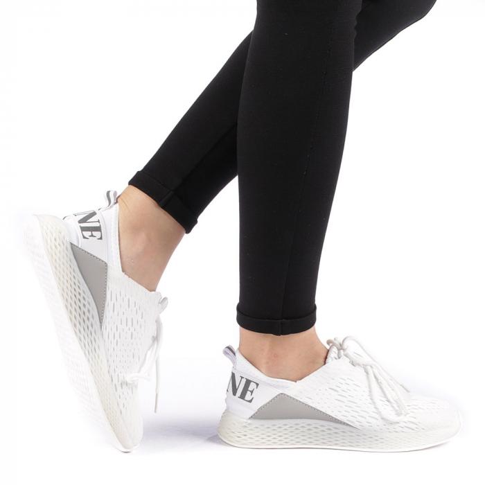 Pantofi sport dama Antonia albi 0
