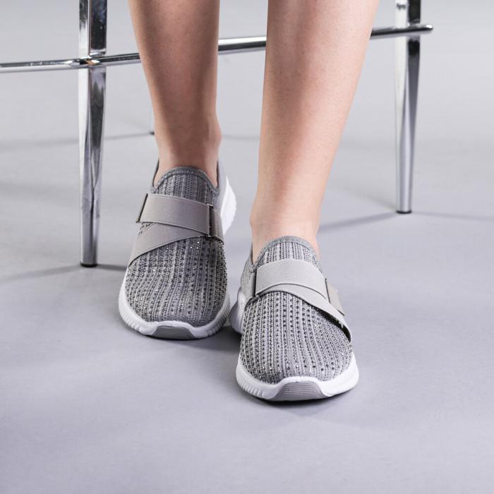 Pantofi sport dama Arabela gri 1