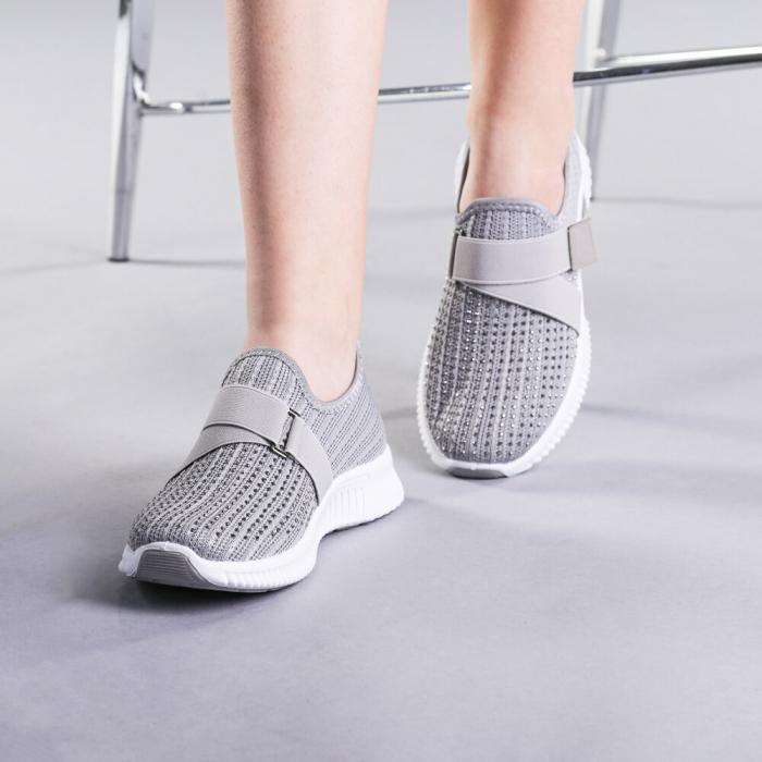 Pantofi sport dama Arabela gri 2