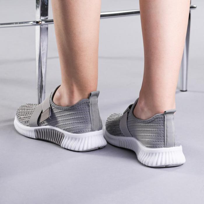 Pantofi sport dama Arabela gri 3