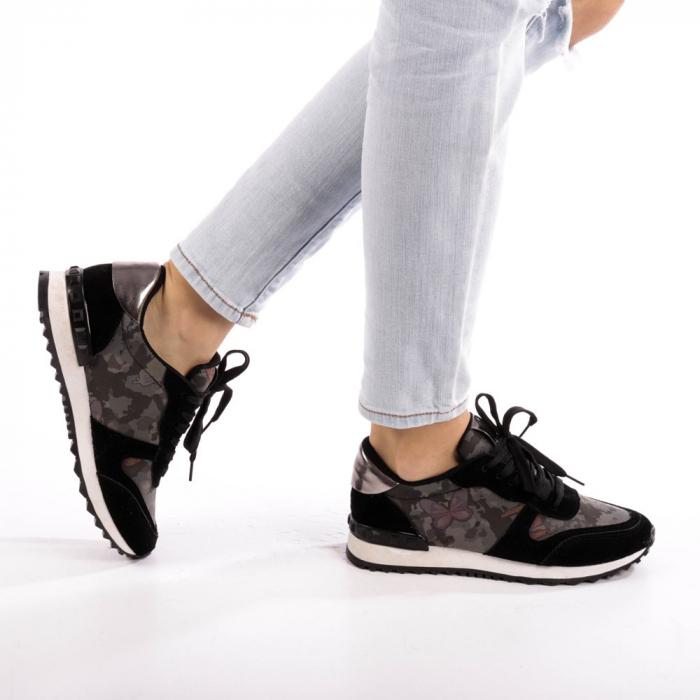 Pantofi sport dama Athena negri 0