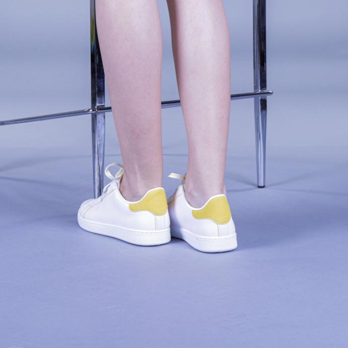 Pantofi sport dama Augustina galbeni 3