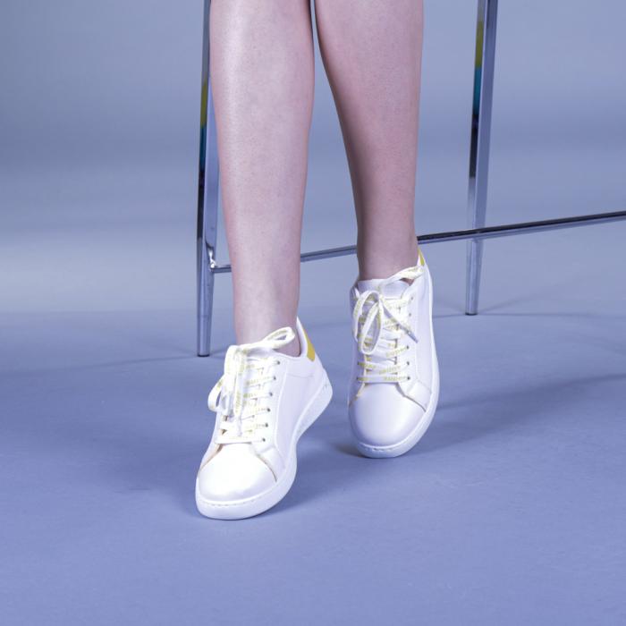 Pantofi sport dama Augustina galbeni 2