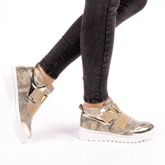 Pantofi sport dama  Aura aurii 0