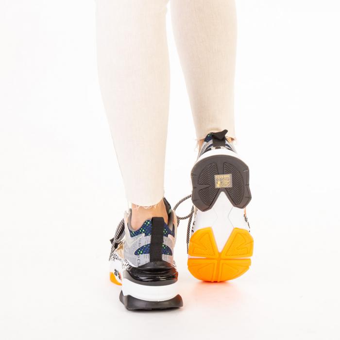 Pantofi sport dama aurii multicolor 3