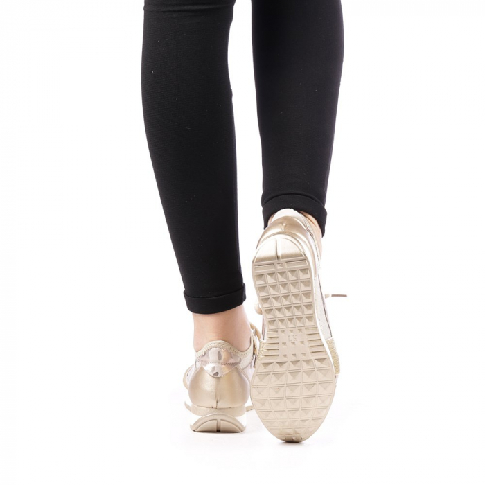 Pantofi sport dama Bonar aurii 3