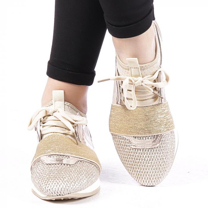 Pantofi sport dama Bonar aurii 1