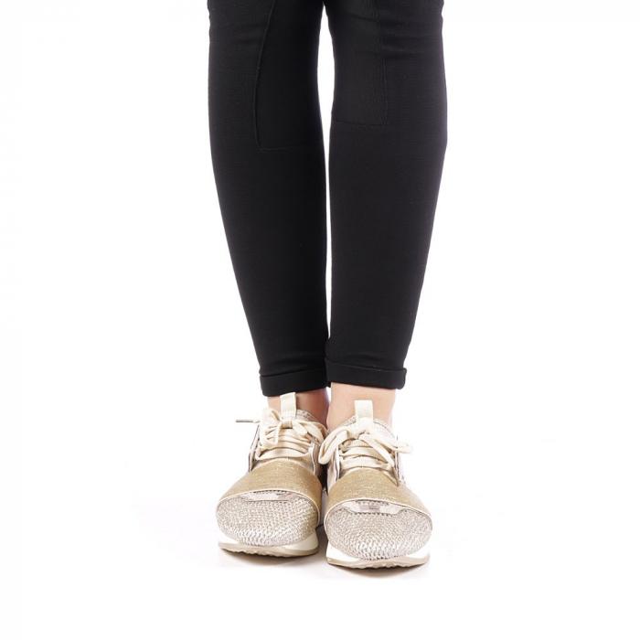 Pantofi sport dama Bonar aurii 4