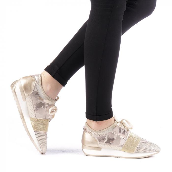 Pantofi sport dama Bonar aurii 0
