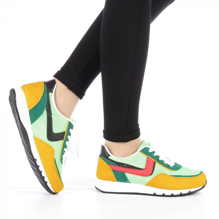 Pantofi sport dama Bony verzi 0