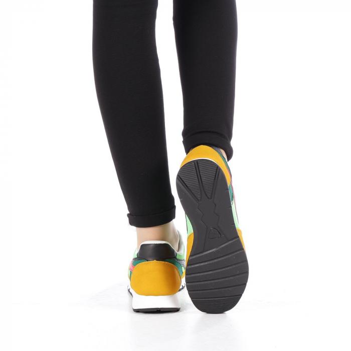 Pantofi sport dama Bony verzi 2