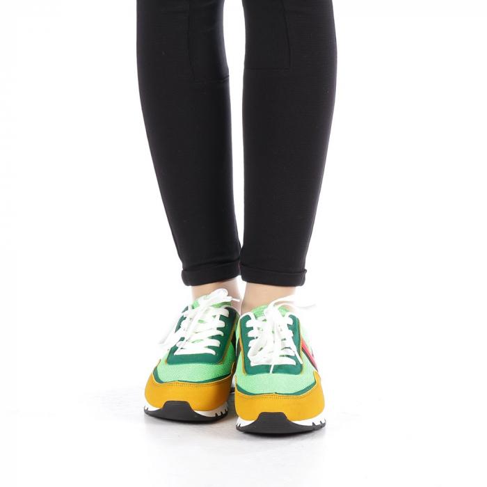 Pantofi sport dama Bony verzi 3