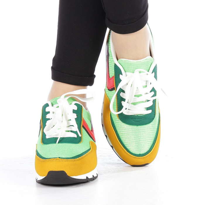 Pantofi sport dama Bony verzi 4