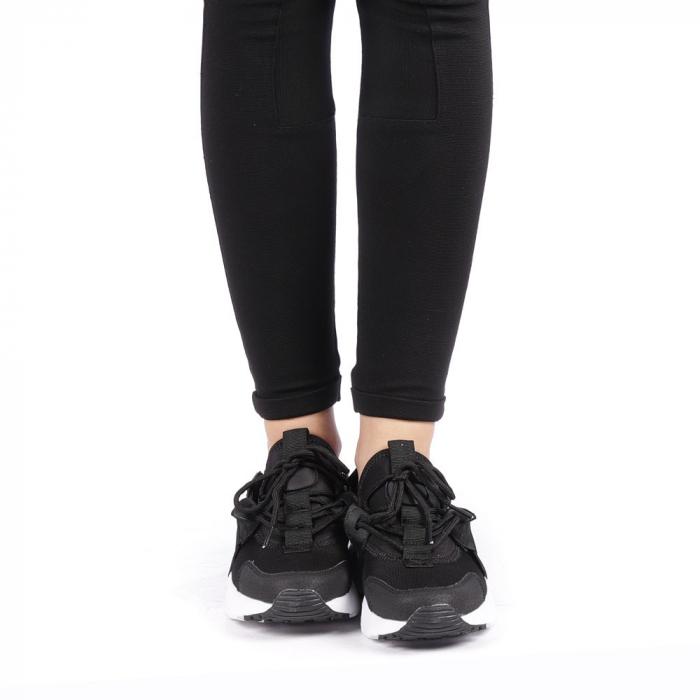 Pantofi sport dama Carmena negri cu alb 4
