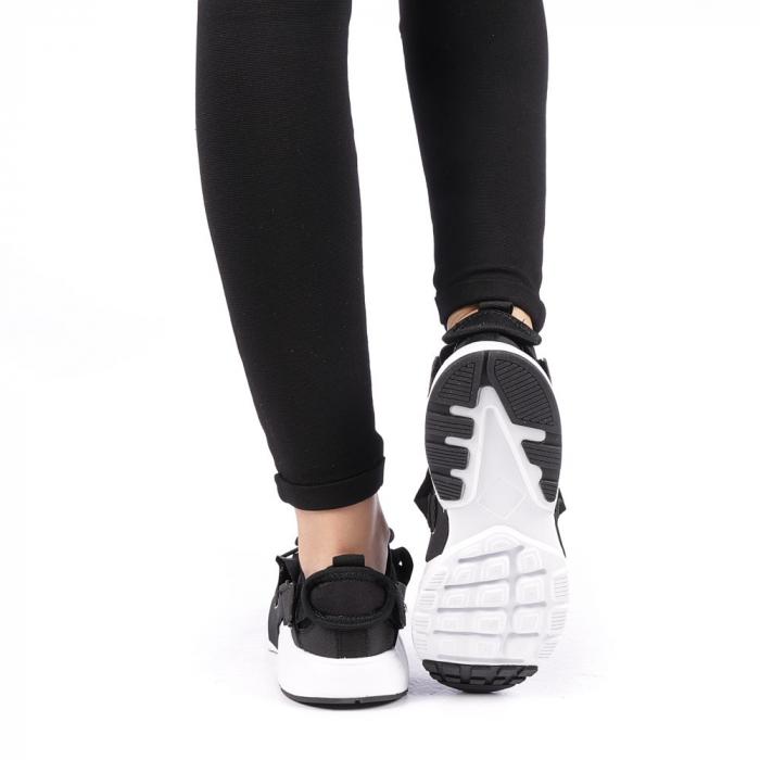 Pantofi sport dama Carmena negri cu alb 3