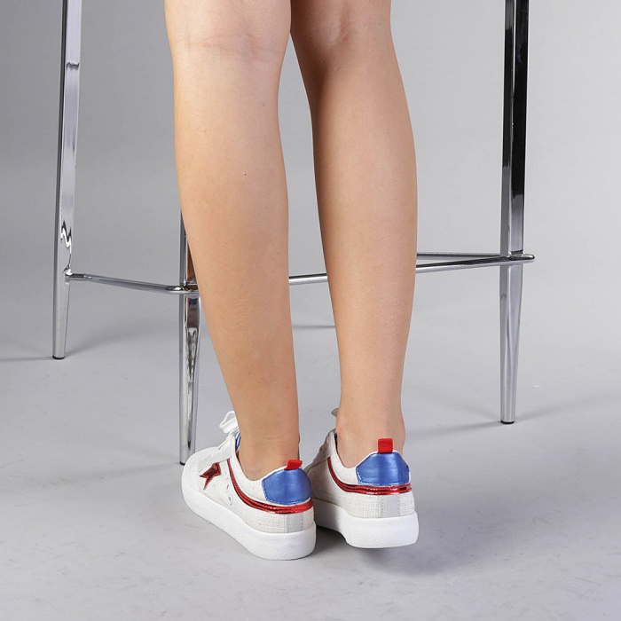 Pantofi sport dama Cecilia rosii 3