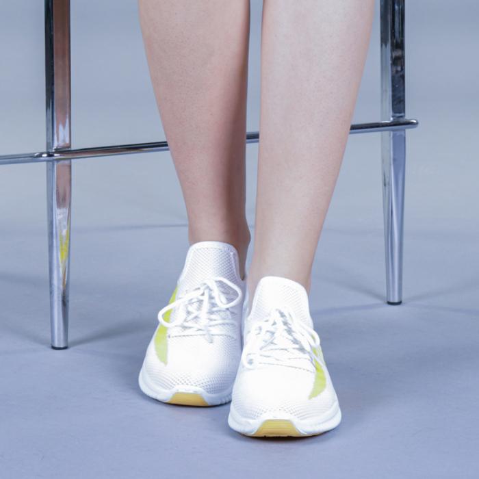 Pantofi sport dama Cindy galbeni 1