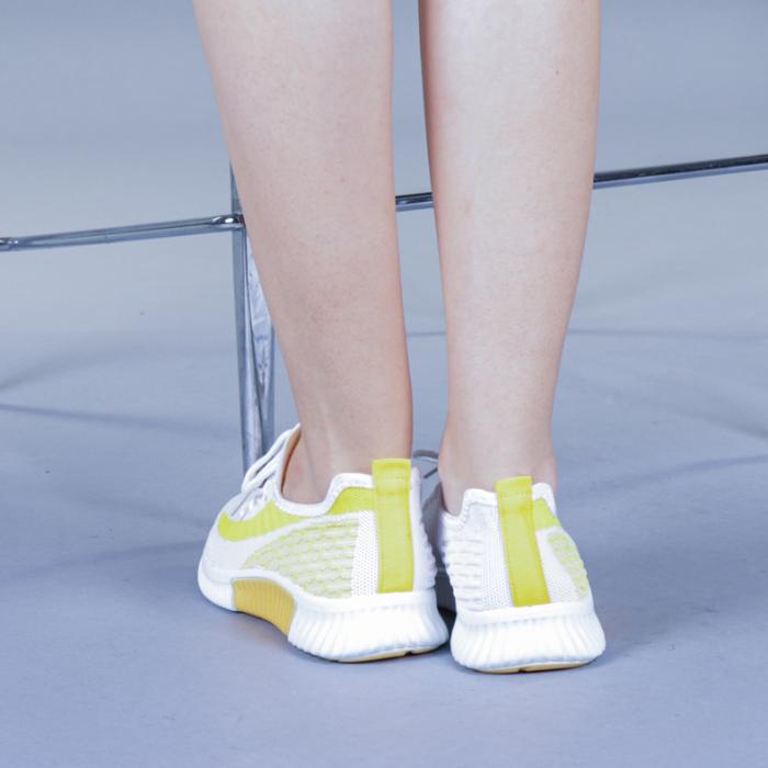 Pantofi sport dama Cindy galbeni 3
