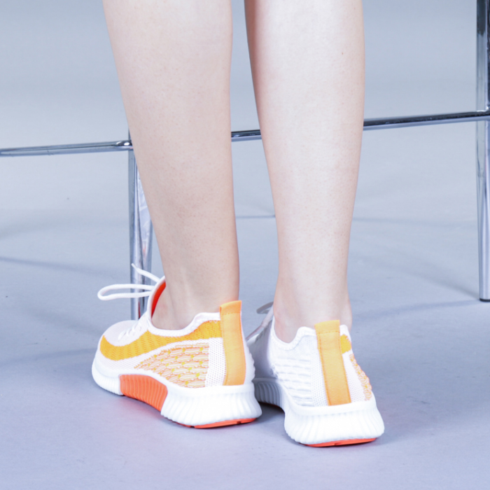 Pantofi sport dama Cindy portocalii 3