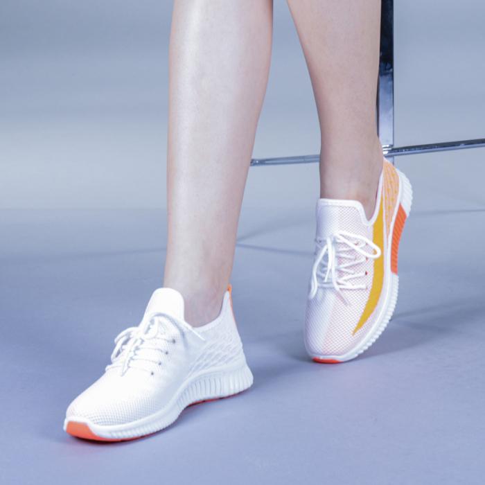 Pantofi sport dama Cindy portocalii 2