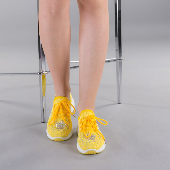 Pantofi sport dama Cleo galbeni 1