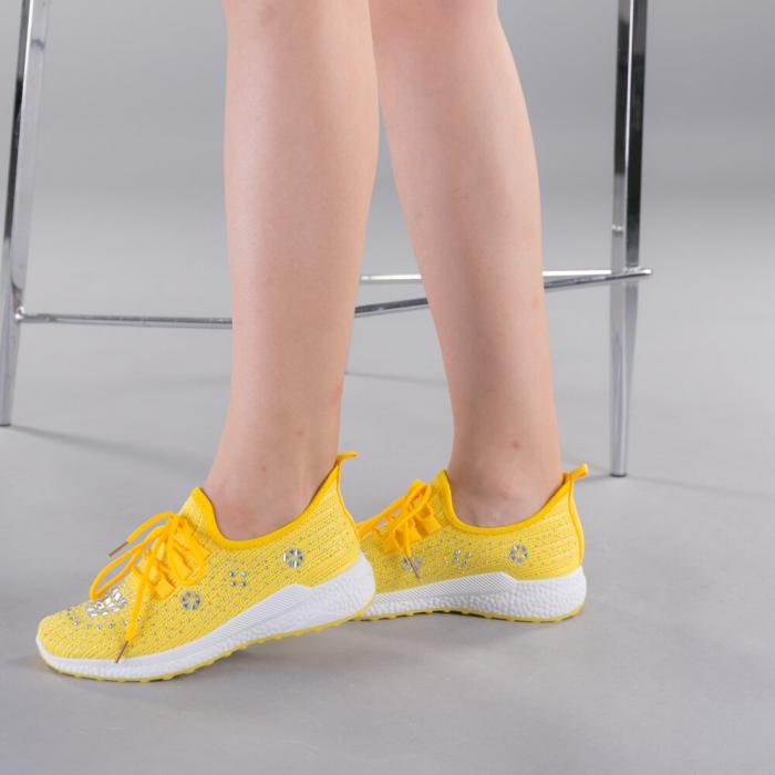 Pantofi sport dama Cleo galbeni 3
